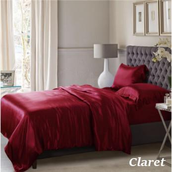 クラレッド ワインレッド色の掛布団カバー