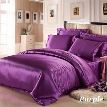 パープル 紫色の掛布団カバー