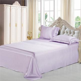ライトパープル 薄紫色のシルクボックスシーツ