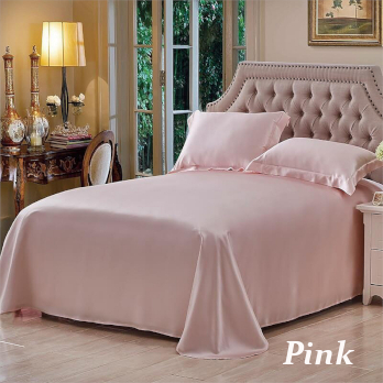 ピンク色のシルクシーツ