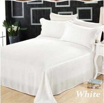 ホワイト 白色のシルクシーツ