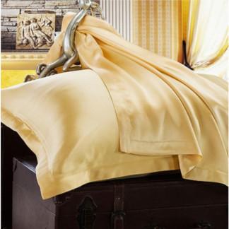 ゴールド 金色のシルク枕カバー