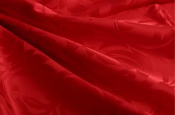 レッドジャガード織りシルクシーツ