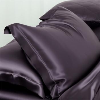 グレー灰色のシルク枕カバー