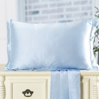 ライトブルー 水色のシルク枕カバー