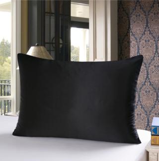 ブラック 黒色のシルク枕カバー ピローケース