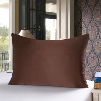チョコレート 茶色のシルク枕カバー ピローケース