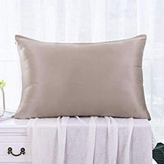 コーヒー色のシルク枕カバー ピローケース