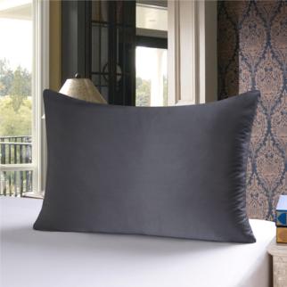 グレー 灰色のシルク枕カバー ピローケース