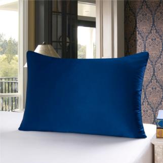 ネイビー 青色のシルク枕カバー ピローケース