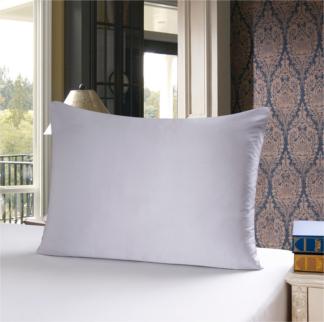 シルバーグレイ 灰色のシルク枕カバー ピローケース
